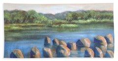 Cross Of Rocks  Beach Towel by Randy Burns