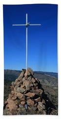 Cross On Fremont Peak Beach Towel