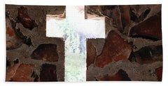 Cross Shaped Window In Chapel  Beach Sheet