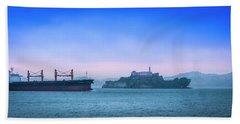 Crossing Alcatraz Beach Towel