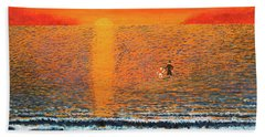 Beach Towel featuring the painting Crossing Over by Thomas Blood