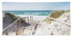 Crossing The Dune Beach Sheet by Edgar Laureano