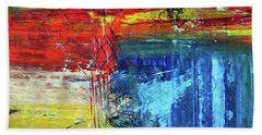 Beach Towel featuring the painting Crossroads by Everette McMahan jr