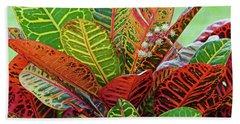 Colorful Croton Bloom Beach Sheet