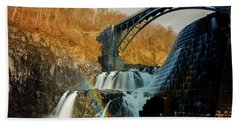 Croton Dam Rainbow Spray Beach Towel