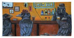 Beach Towel featuring the painting Crow Bar by Leah Saulnier The Painting Maniac
