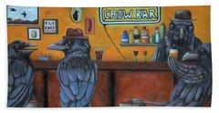 Crow Bar Beach Towel by Leah Saulnier The Painting Maniac