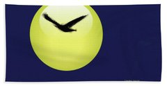 Beach Towel featuring the painting Crow by Lenore Senior