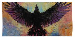 Crow Beach Towel by Michael Creese