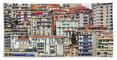 Crowded House Beach Towel by Keith Armstrong