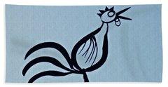 Crowing Rooster Beach Towel by Sarah Loft