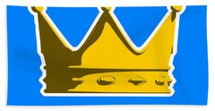 Crown Graphic Design Beach Towel