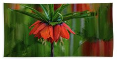 Beach Towel featuring the photograph Crown-imperial Abstract #h5 by Leif Sohlman