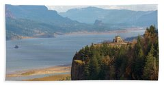 Crown Point On Columbia River Gorge Beach Towel
