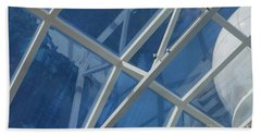 Cruise Ship Abstract Girders And Dome 2 Beach Towel