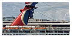 Cruise Ships In Cozumel, Mexico Beach Towel