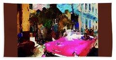 Cruising In Havana Beach Towel