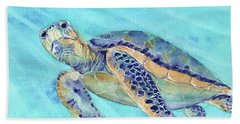 Beach Towel featuring the painting Crush by Betsy Hackett