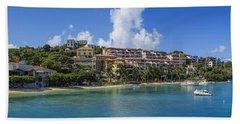 Beach Towel featuring the photograph Cruz Bay, St. John by Adam Romanowicz