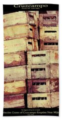 Cruzcampo Beer In Wooden Cases Poster Beach Sheet