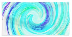 Crystal Blue Persuasion  Beach Sheet by Marianne Campolongo