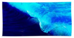 Crystal Blue Wave Painting Beach Towel