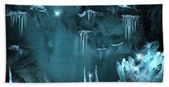 Crystal Cave Mystery Beach Towel