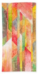 Beach Towel featuring the painting Crystal Colors Watercolor by Kristen Fox