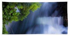 Crystal Creek Waterfalls Beach Towel