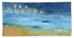 Beach Towel featuring the painting Crystal Deep Waters by Michal Mitak Mahgerefteh