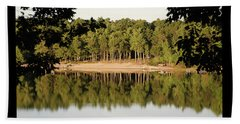 Beach Towel featuring the photograph Crystal Lake In Whitehall Mi by Ferrel Cordle