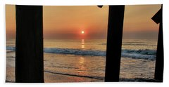 Beach Towel featuring the photograph Crystal Sunrise by Phil Mancuso