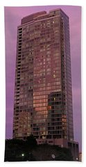Crystal Skyscraper Sunset Beach Towel
