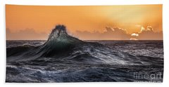 Crystal Wave Sunset Napali Coast Kauai Hawaii Beach Sheet