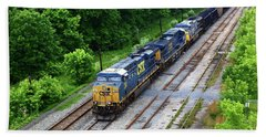 Csx Coal Train At Brunswick Maryland Beach Towel