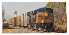 Csx - Tropicana Juice Train Beach Sheet by John Black