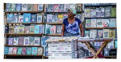Cuba Book Market Beach Towel by Perry Webster