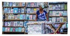 Cuba Book Market Beach Sheet by Perry Webster