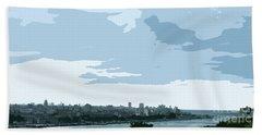 Cuba City And Skyline Art Ed2 Beach Sheet