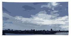 Cuba City And Skyline Art Ed4 Beach Towel