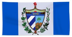 Beach Towel featuring the drawing Cuba Coat Of Arms by Movie Poster Prints