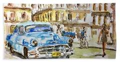 Cuba Today Or 1950 ? Beach Towel