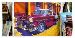 Cuban Art Cars Beach Sheet