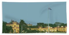 Cuban Estate Print Beach Towel