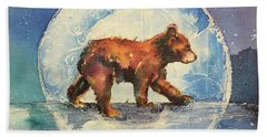 Beach Towel featuring the painting Cubbie Bear by Christy Freeman