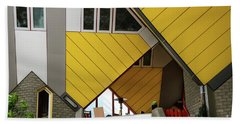 Beach Towel featuring the photograph Cube Houses Detail In Rotterdam by RicardMN Photography