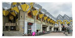 Beach Towel featuring the photograph Cube Houses In Rotterdam by RicardMN Photography