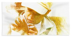 Beach Towel featuring the photograph Cuenca Kid 902 - Adinea by Al Bourassa