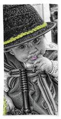 Beach Towel featuring the photograph Cuenca Kids 888 by Al Bourassa