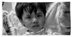 Beach Towel featuring the photograph Cuenca Kids 893 by Al Bourassa